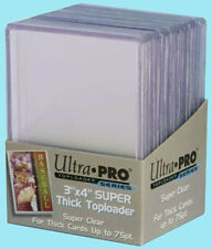 25 ACEO ART CARD Rigid Thick Toploader Sleeve NEW Clear Acid Free 3x4 ATC Holder