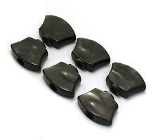SZ-3+3- BTBP (6) Sperzel #2 Black Pearloid 3x3 Guitar Tuner Buttons