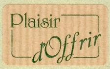 15 Etiquettes autocollantes stickers cadeaux PLAISIR D'OFFRIR Kraft - Ref S10