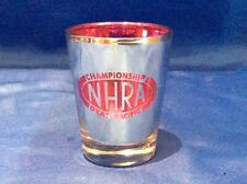 NHRA CHAMPIONSHIP DRAG RACING Logo Shot Glass CHROME & PURPLE Finish NEW