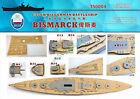 Shipyard 1/350 350004 Wood Deck German Bismarck for Tamiya