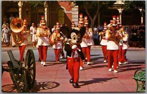 "Vintage DISNEYLAND Postcard ""Mickey Mouse & Disneyland Band"" Vesey Walker c1960s"