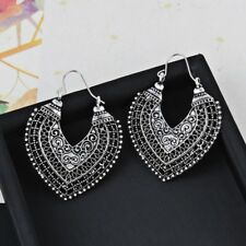 1 Pair Hollow Heart Retro Earrings Hoop Vintage Earrings Women Lady Bohemia Sale
