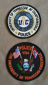 USA - 2 x Different University Police Patches - Tennessee
