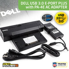 Latitude E5470 E5500 E5530 E5540 Dell E-Port Plus II USB 3.0 Docking Station +AC