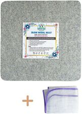 """13.5"""" x 13.5"""" Wool Ironing mat for Quilting Sewing, Cutting and Pressing + Pic"""