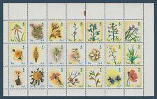 Saudi Arabia - 2000 - RARE - Perforation 14 - Flowers - Block of 21 - 1r. - MNH