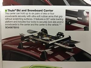 2010-2020 Subaru Ski & Snowboard Rack KIT Forester Outback SOA567S010 Thule Oem