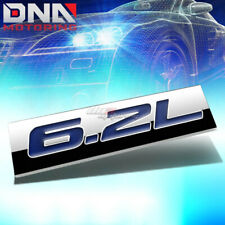 ALUMINUM STICK ON POLISHED CHROME BLUE 6.2L 6.2 L DECAL EMBLEM TRIM BADGE LOGO