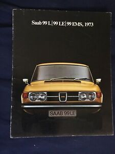 1973 SAAB 99 Sedan 99 EMS Color Brochure USA Market PROSPEKT