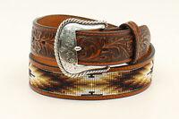 Nocona Tan Leather Mens Western Floral Belt