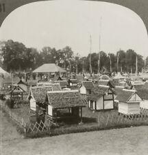 Keystone Stereoview Native Village Miniature, Java South Sea Islands Set 1910's