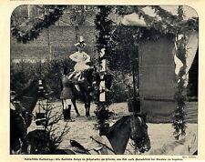 Die deutsche Kaiserin steigt in Pöpelwitz zu Pferde Historische Aufnahme 1906