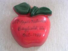 25th Annual Apple Festival October 1985 Bayfield Wisconsin Wi Plastic Souvenir