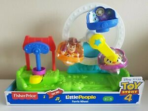 Toy Story 4 Little People Ferris Wheel Playset Woody & Ducky Figures Brand New