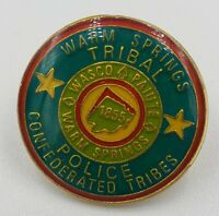 Vintage Warm Springs Confederated Tribes Tribal Police Lapel Pin OR 1855