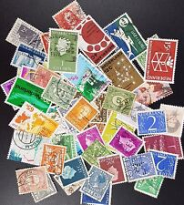 50 Sellos Usados Países Bajos-all different selection of Stamps off paper