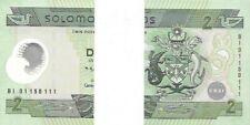 Solomon Islands : 2 Dollars (2001) P-23 Prefix B:1 Polymer (10 Pieces) UNC