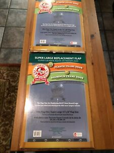 """(2) Ideal Pet 15"""" x 20"""". Super Large Replacement Flap For Aluminum Frame Only"""