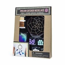 Create Your Own Dream Catcher Necklace Kit Crafts Kids 3+ Arts DIY 33 Pieces New