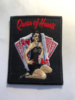 "#2265LRA 5-1//2/"" Red Poker Card Ace King Of Hearts Suit Embroidery Applique Patch"