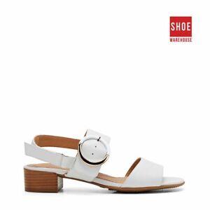 Hush Puppies MACKENZIE White Womens Heels Dress/Formal Leather Heels