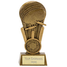 A1649A X 16 RESIN CRICKET TROPHIES SIZE 11.25CM   FREE ENGRAVING  (HALF PRICE)