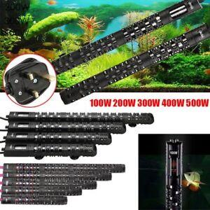 Submersible Aquarium Heater Fish Tank Water Heater Thermostat Rod UK 50W To 500W