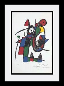 JOAN MIRÓ - Custom Framed 'Lithographs. Volume II. 1953-63' - Numbered