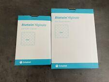 BIATAIN Alginate Kompressen 1x 5x5cm 10 Stück und 1x  10x10cm 10 Stück Coloplast
