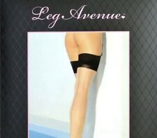 Brand New Leg Avenue Sheer Nude Thigh High Stockings With Black Contrast Top