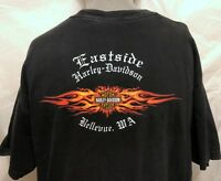 87e5fe41 Harley Davidson Eastside Bellevue WA Shirt Sz XL Motorcycles Biker Flames  Bike