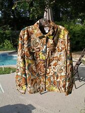 """CHICO'S NWT LADIES """"DREAM NATURE ALICIA"""" WOVEN COTTON JACKET SIZE 1 = S to M"""