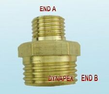 M14 M14X1.5 Male to 1/2 Male NPT Coupling Metric Pipe Fitting Gauge adapter N-D6