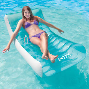 Rockin Lounge Schwimmliege Schwimmsessel Luftmatratze Badeinsel von INTEX