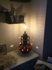1960's West German Pottery Fat Lava Lamp With Edison Globe Bulb Free Uk P&P Uk