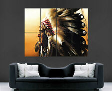 NATIVE AMERICAN INDIAN CHIEF POSTER PICTURE HUGE ART PRINT LARGE GIANT