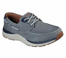 Skechers Gray Shoes Men Soft Canvas Memory Foam Sporty Comfort Boat Casual 66191