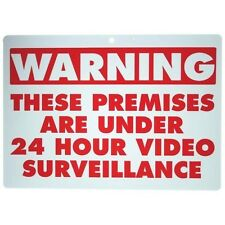 Two (2) WARNING VIDEO SURVEILLANCE Warning Sign Safety CCTV Security Red White