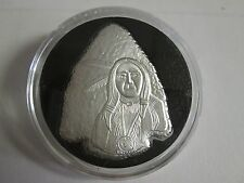 1 oz .999 fine silver indian arrowhead warrior