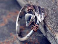 Silberring Pfeil Vintage Ethno Ring Silber 925 Verstellbar Offen Damenringe