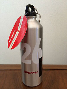 FuelBelt Fuel Belt Aluminum Water Bottle 25 ounces oz Silver Running Lightweight