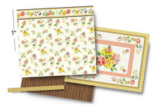 1:48 Scale Dollhouse Wallpaper - Floral Breeze - 1920 Vintage Pattern - Gtc