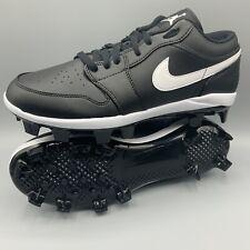 Nike Air Jordan 1 Retro MCS Low Black Baseball Cleats CJ8524-001 Men's Size 11