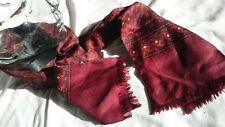 Vintage Keynote Mens Ladies Long Red Rayon Scarf Heffner Outfit