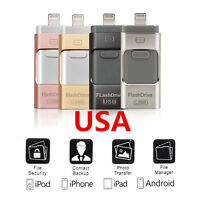 256GB i Flash Drive USB Memory Stick U Disk 3 in 1 for Android IOS iPhone PC
