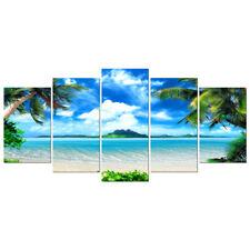 Canvas Prints Wall Art Home Decor Painting Pictures Photo Landscape Sea Blue Big