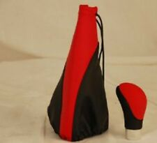 Universal shift knob with leather booth Red&Black color 02-SBKRD Red/Bk