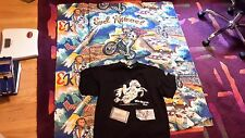 EVEL KNIEVEL AUTOGRAPHED WAR HORSE T SHIRT USED WITH BONUS!!  AND MATERIAL NOW!!