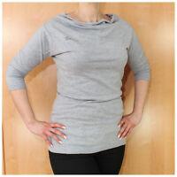 Timezone Top Gr. L Damenoberteil 3/4 Arm Pullover grau meliert (#2558)